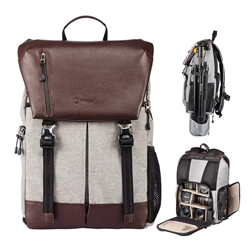 TARION Camera Backpack For Lens Tripod Tablet With Waterproof Rain Cover